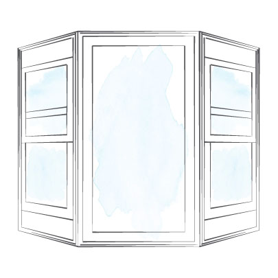 window bay double hung